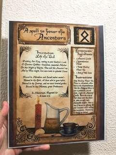 Spell to honor ancestors art piece wicca