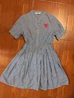 CDG Play pinstripe dress