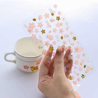 🚚 🌟BN INSTOCKS Pretty Pink Flower Petals Stickers Pack (V1)