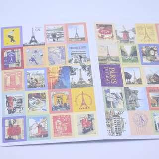 🚚 🌟BN INSTOCKS Cute Round The World Monuments Stamps Stickers Pack