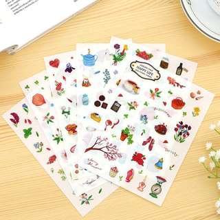 🚚 🌟BN INSTOCKS Cute Pretty Flowers Stickers Pack