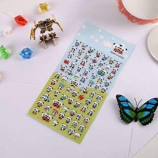🚚 🌟BN INSTOCKS Cute Panda Bubble Stickers Pack