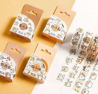 🚚 🌟BN INSTOCKS Adorable Shiba Inu / Seal / Bear / Cat / Hamster Washi Tapes