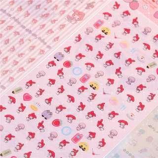 🚚 🌟BN INSTOCKS Mini Cute My Melody Pink Stickers