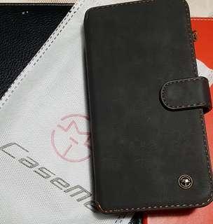 S9 plus black leather case wallet