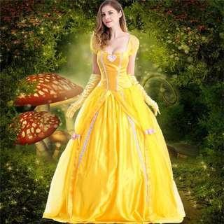 🚚 美女與野獸貝兒公主禮服