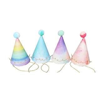 INSTOCK BN Pastel Colorful Pom Pom Tie Dye Party Hats