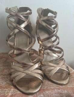 Topshop gold shoes