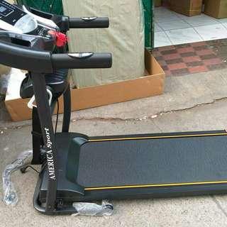 Treadmill 2 fungsi elektrik america sport best seller