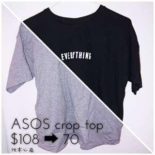 正版 ASOS crop top tee t-shirt t恤