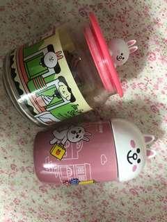 Ok 7-11 line 儲物 陶瓷 樽