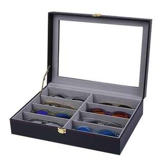 8 Slot Carbon Fiber Spectacles Storage Box