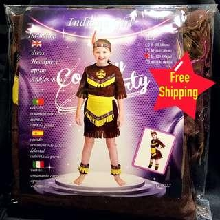 Kids Red Indian costume