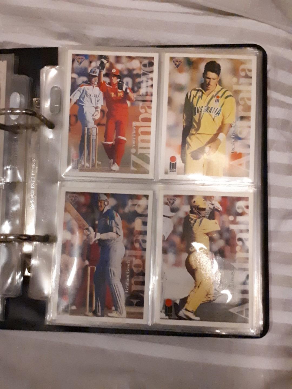90's cricket cards inc. 2 x Shane Warned Signed rare etc