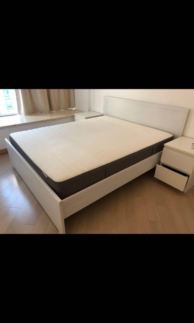 雙人床 五尺半 king size bed & Mattress