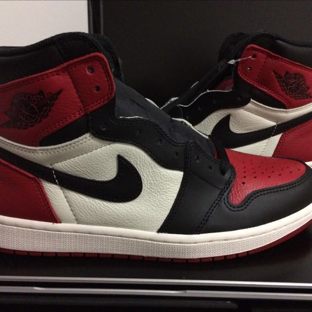 87ffd24d763236 Air Jordan 1 Bred Toe Size US9