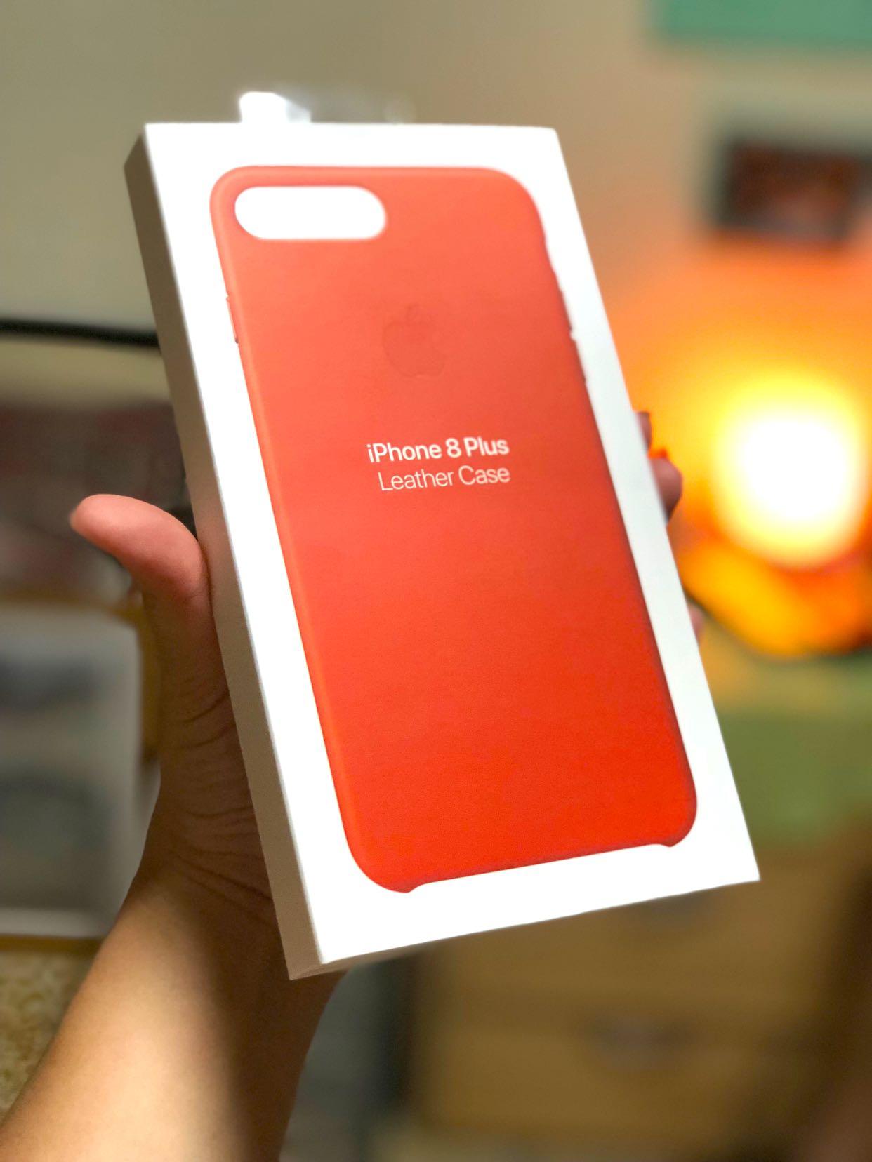 brand new 0c483 789e9 APPLE iPhone 8 Plus leather case - bright orange