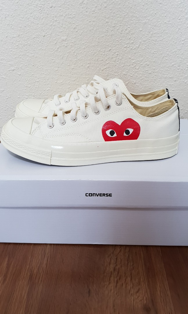 Authentic Converse PLAY COMME des Garcons CDG White ab94d8aa2