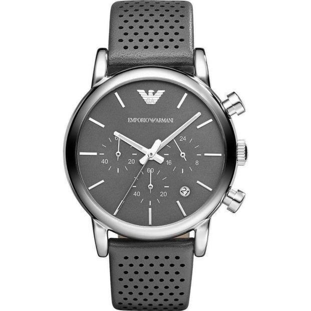 c1ea3f37456c1 Authentic Emporio Armani Classic Chronograph Grey Dial Watch , Men s  Fashion, Watches on Carousell