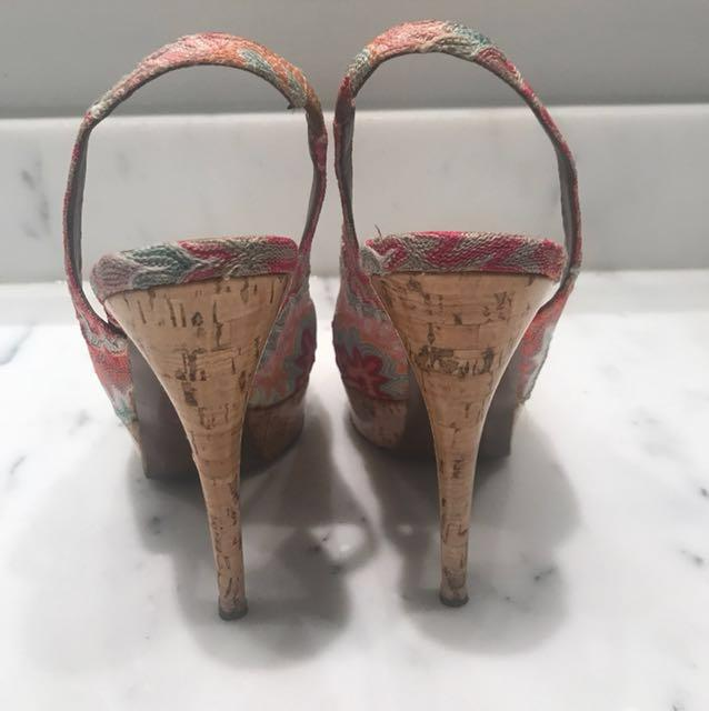 Authentic Missoni peep toe pumps