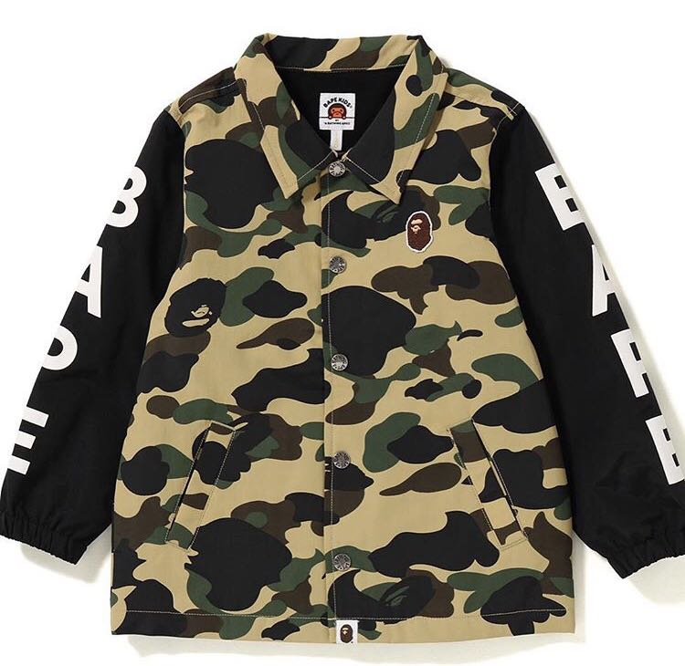 0287f20a3296 Bape kids college coach jacket