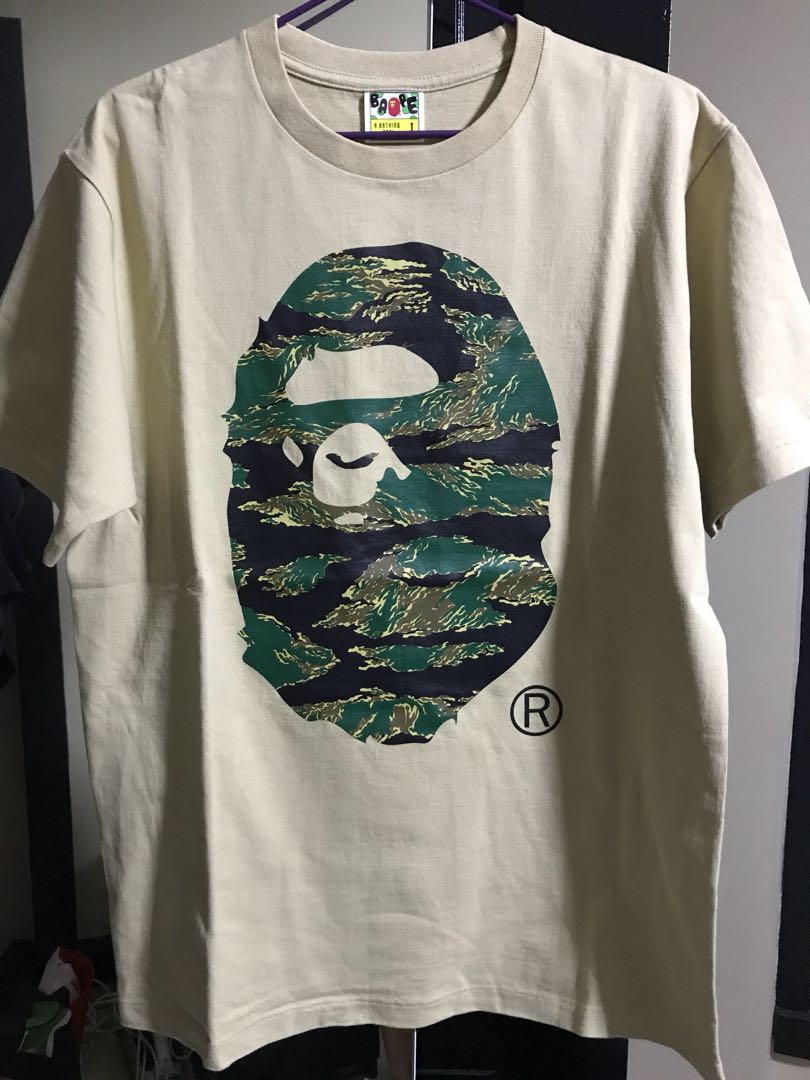 c16010a0 Bape Tiger Camo Big Head Tee (sz: L), Men's Fashion, Clothes, Tops ...