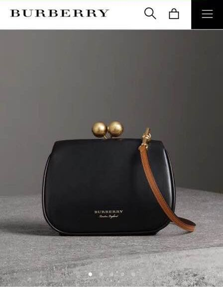 425893ac092d Burberry Small Leather Metal Frame Clutch