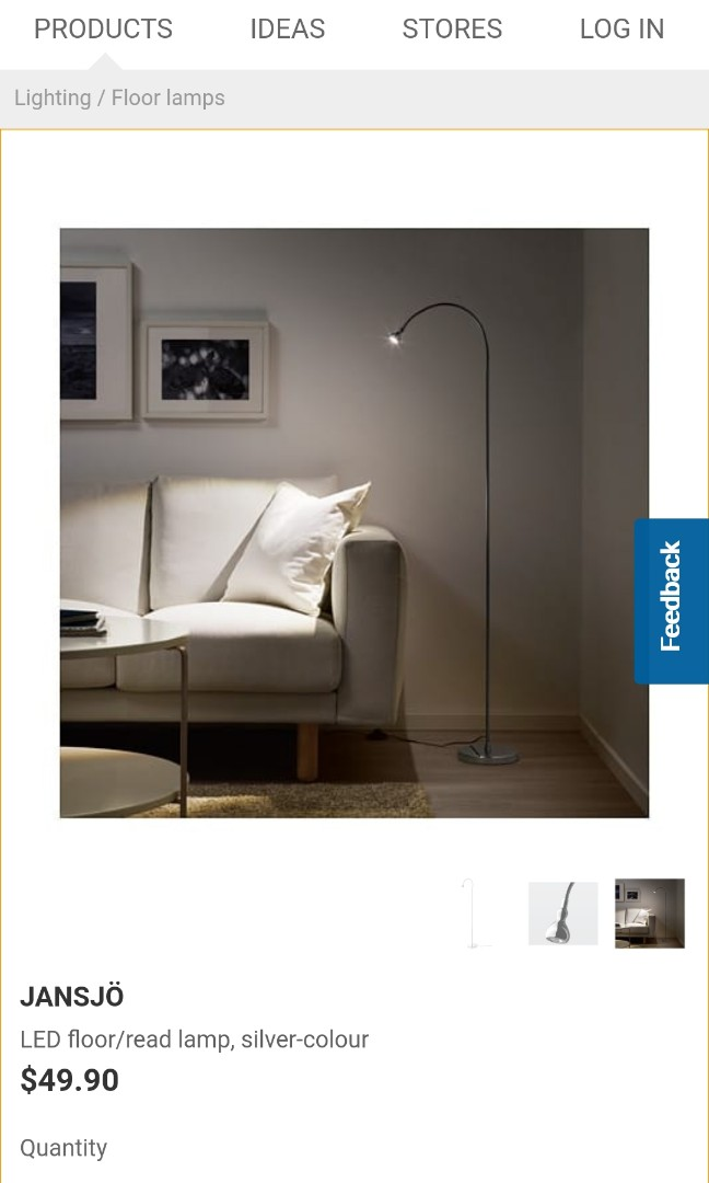 Lighting Floor Lamp Ikea Jansio Cheap Like New Furniture Others