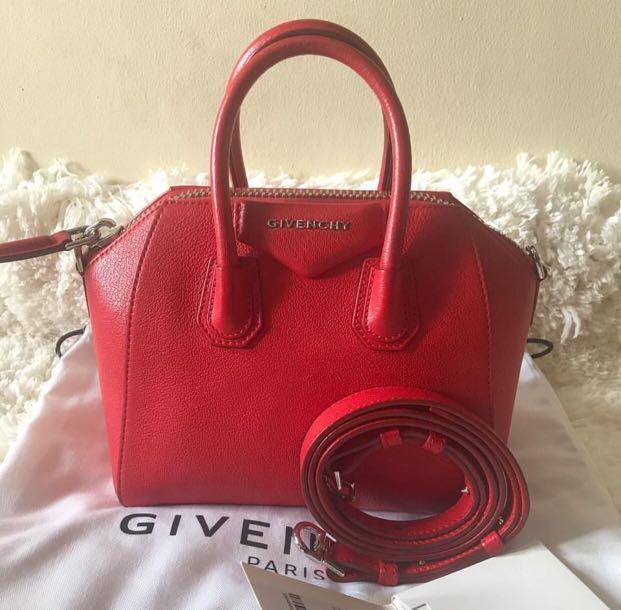 Givenchy mini Antigona red 9b305669fd