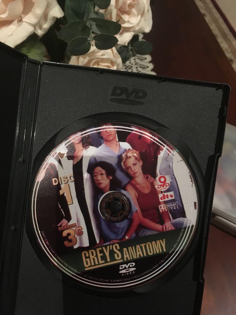 Greys Anatomy season 6 (region 1) and free season 3