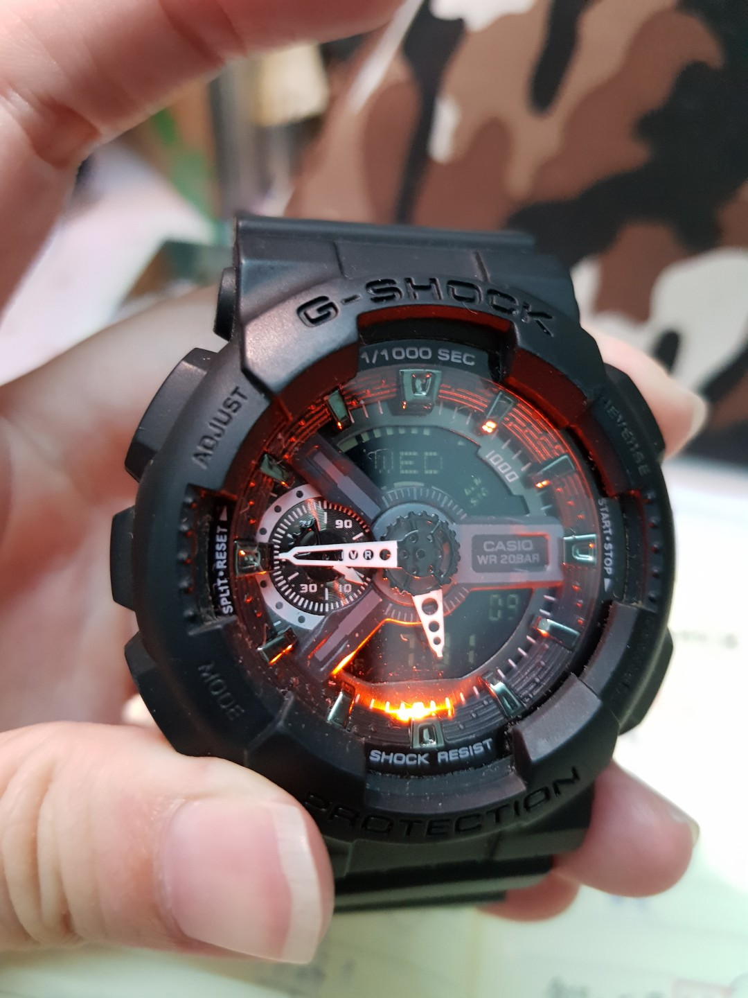affa4e91b43 G-SHOCK GA-110-1B black resin (original)