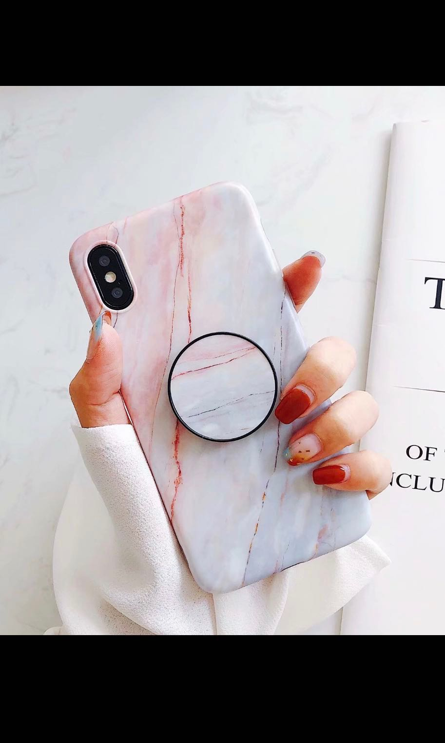 info for 5a0e3 7413e IPhone X marble pop socket case / brand new