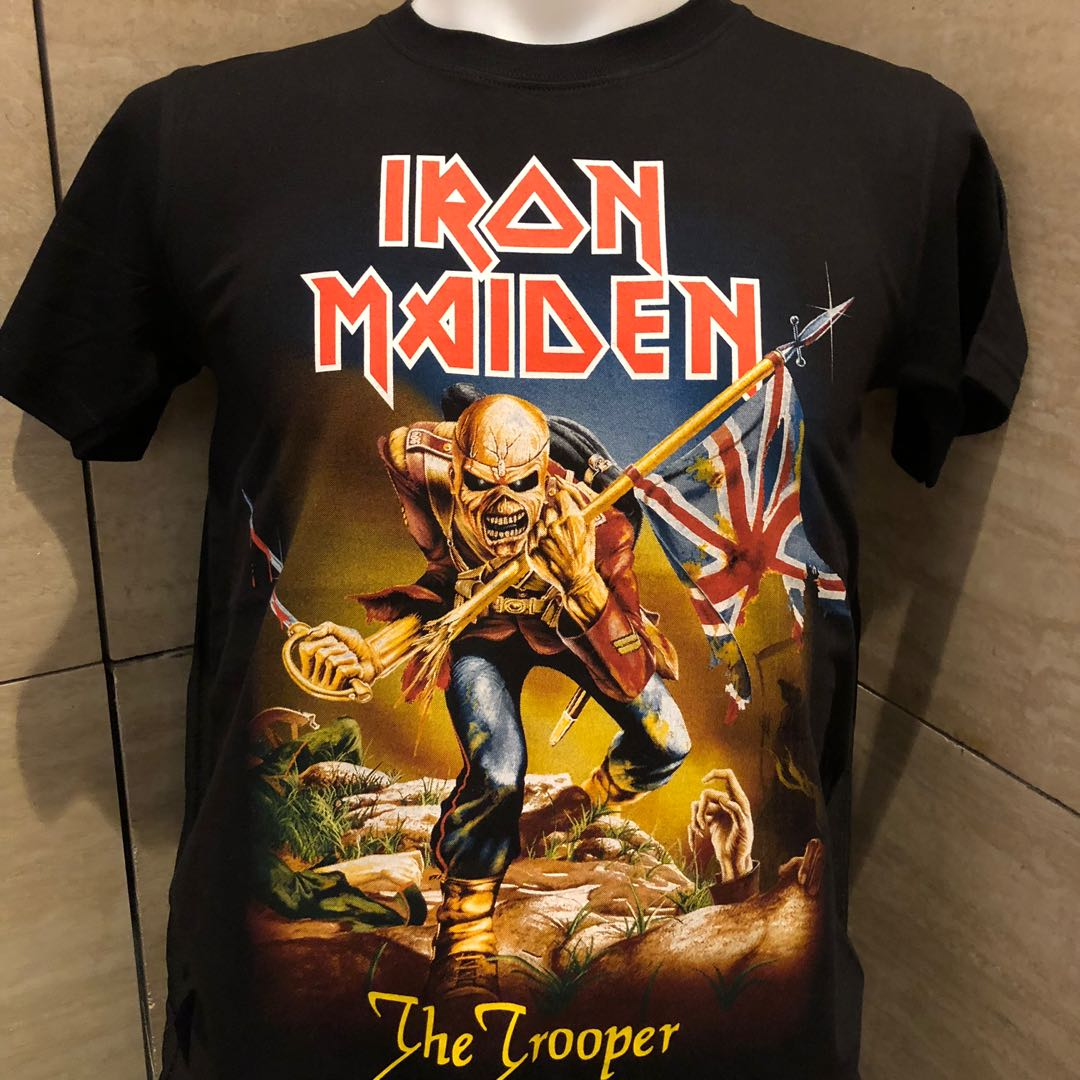97006193 Iron maiden trooper rock t shirt IM, Men's Fashion, Clothes, Tops on ...