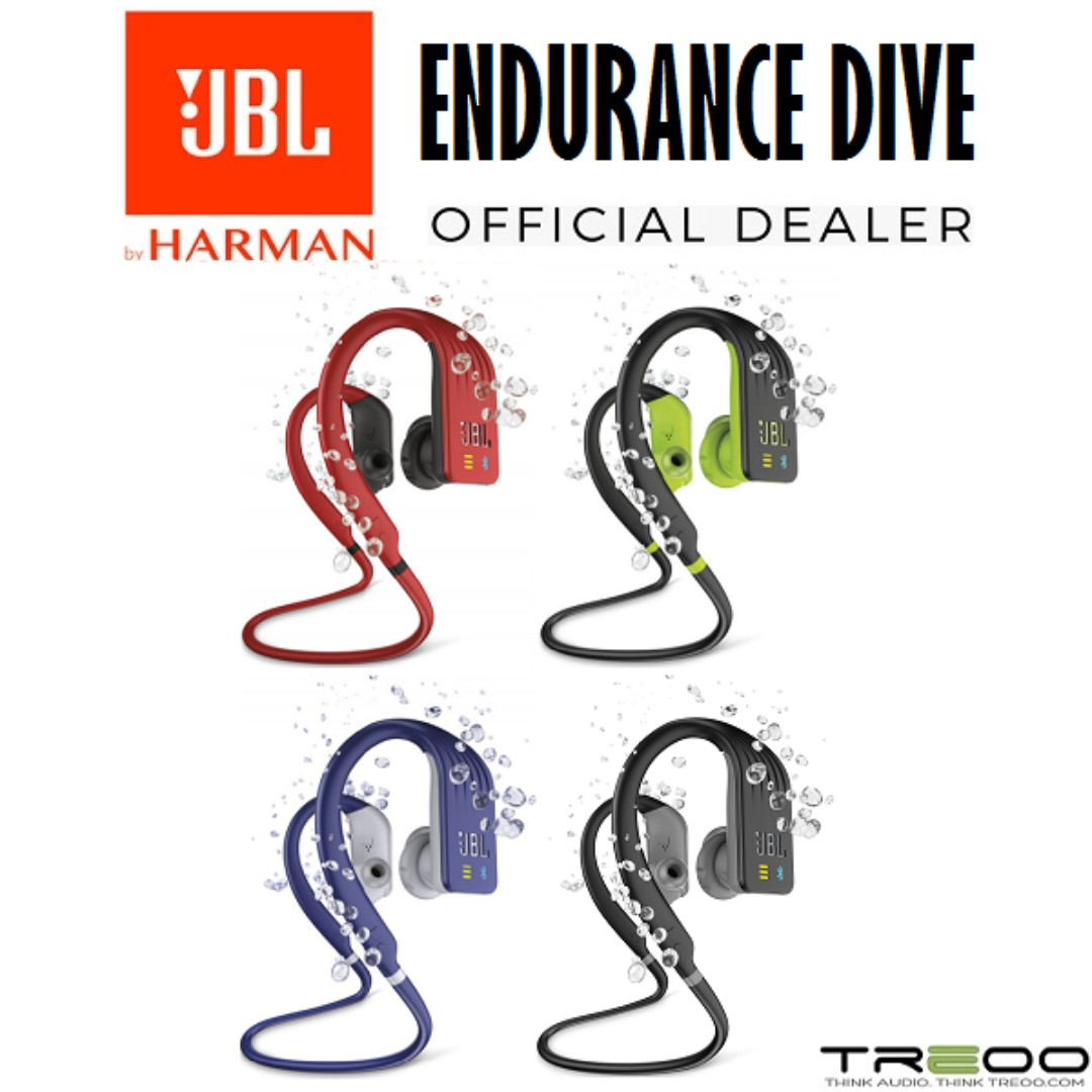56af8001efe JBL Endurance DIVE Waterproof Wireless Bluetooth In-Ear Earphone with  Microphone, Electronics, Audio on Carousell