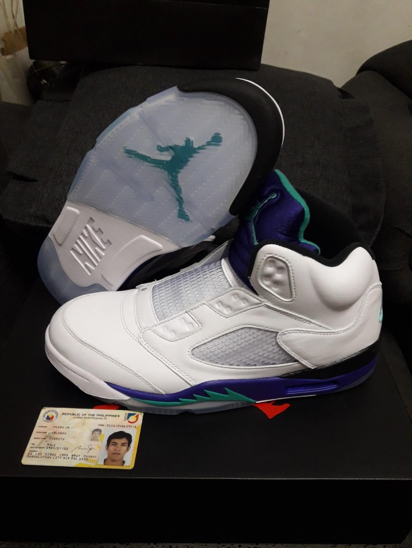 new styles d1c10 6487f Jordan 5 Grape Fresh Prince on Carousell