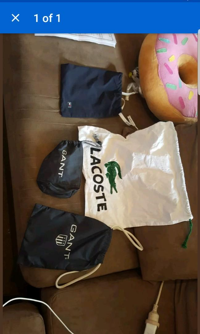 Lacoste gant tommy bags