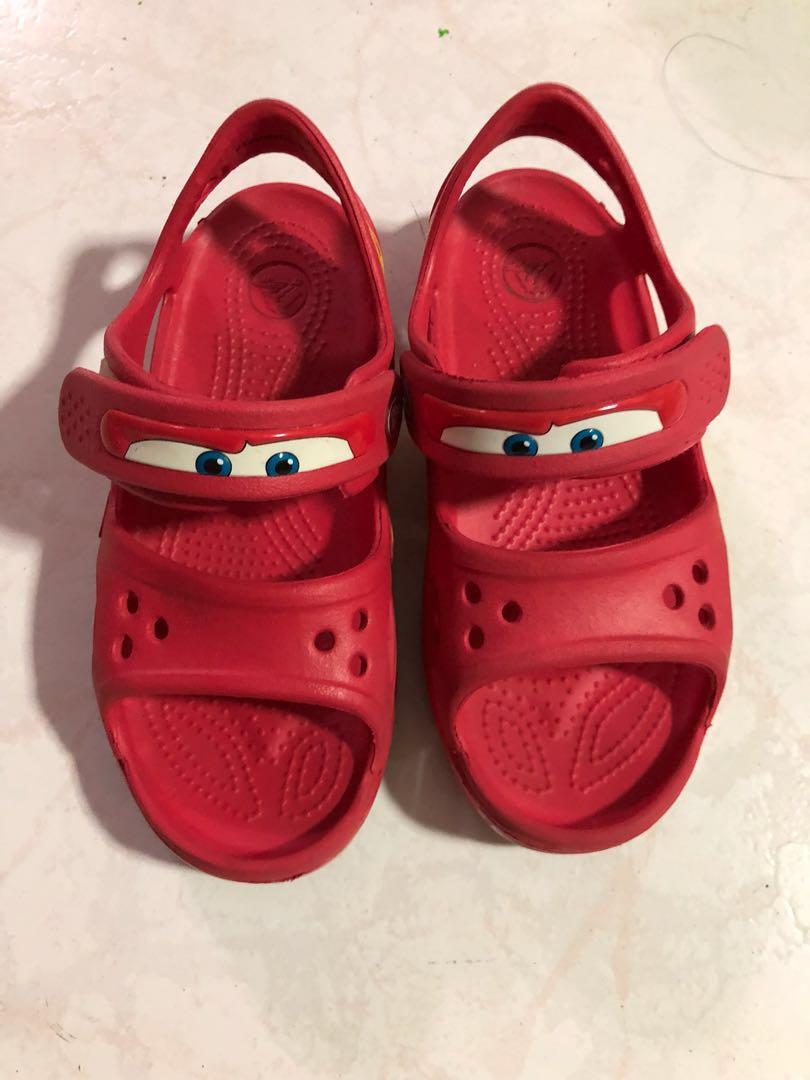72c1631f55a508 Lightning mcqueen crocs sandal