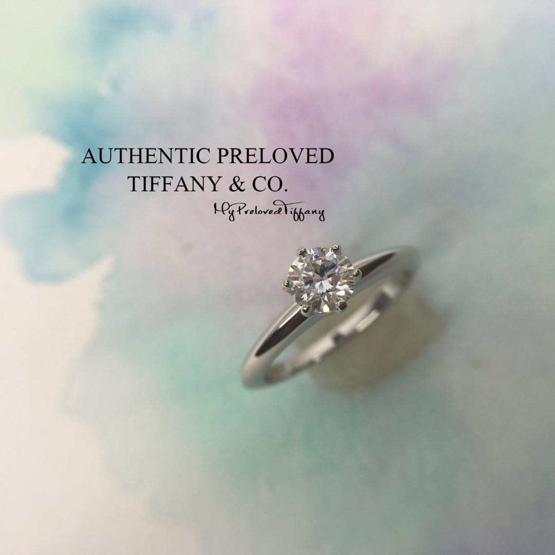 832bdf1b5 Mint Tiffany & Co Solitaire Diamond 0.46ct Platinum Ring D VS2 3EX PT950,  Women's Fashion, Jewellery, Rings on Carousell