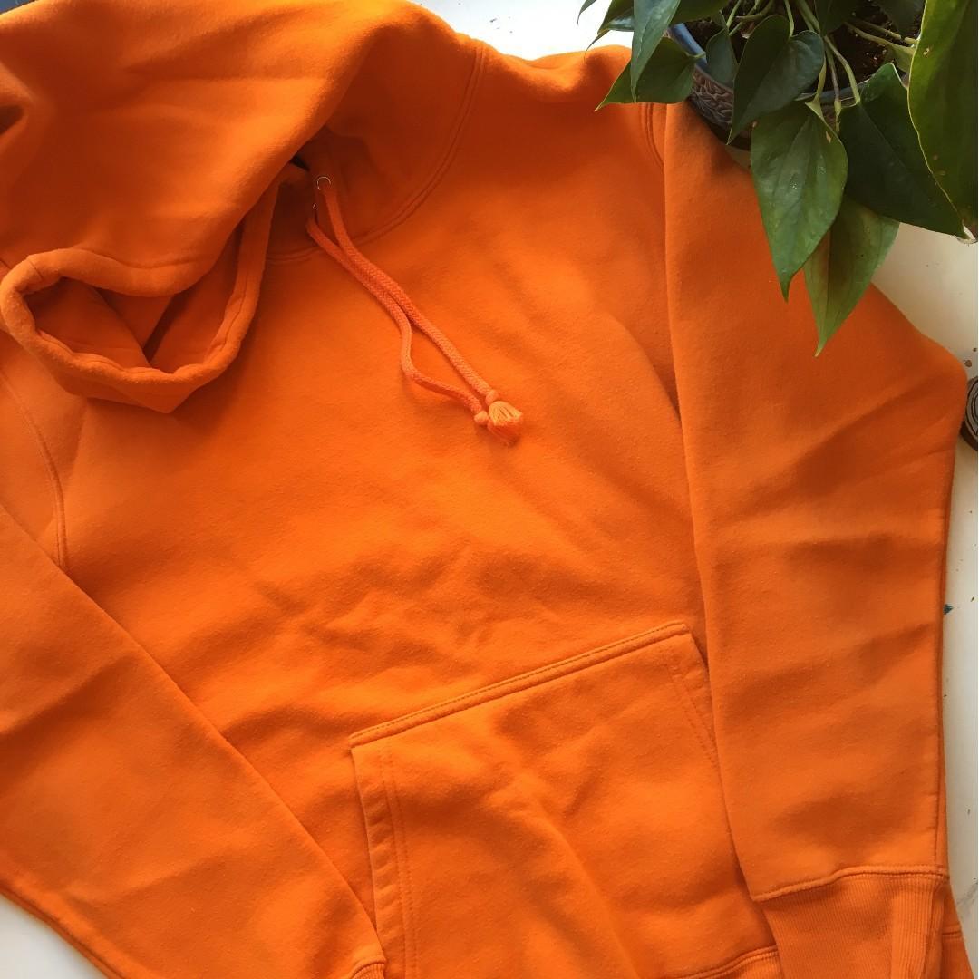 Neon orange hoodie