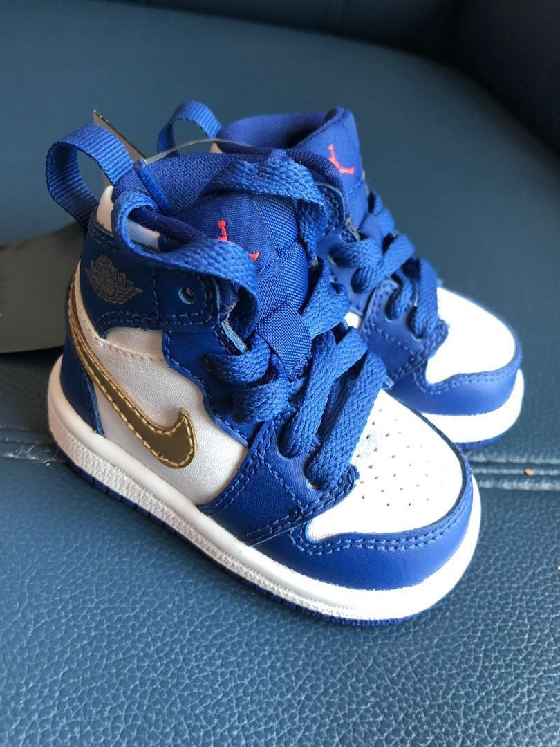 sports shoes 65ff0 50ee7 Nike Air Jordan 1 Retro High Gold Metal BABY SIZE 8cm ...