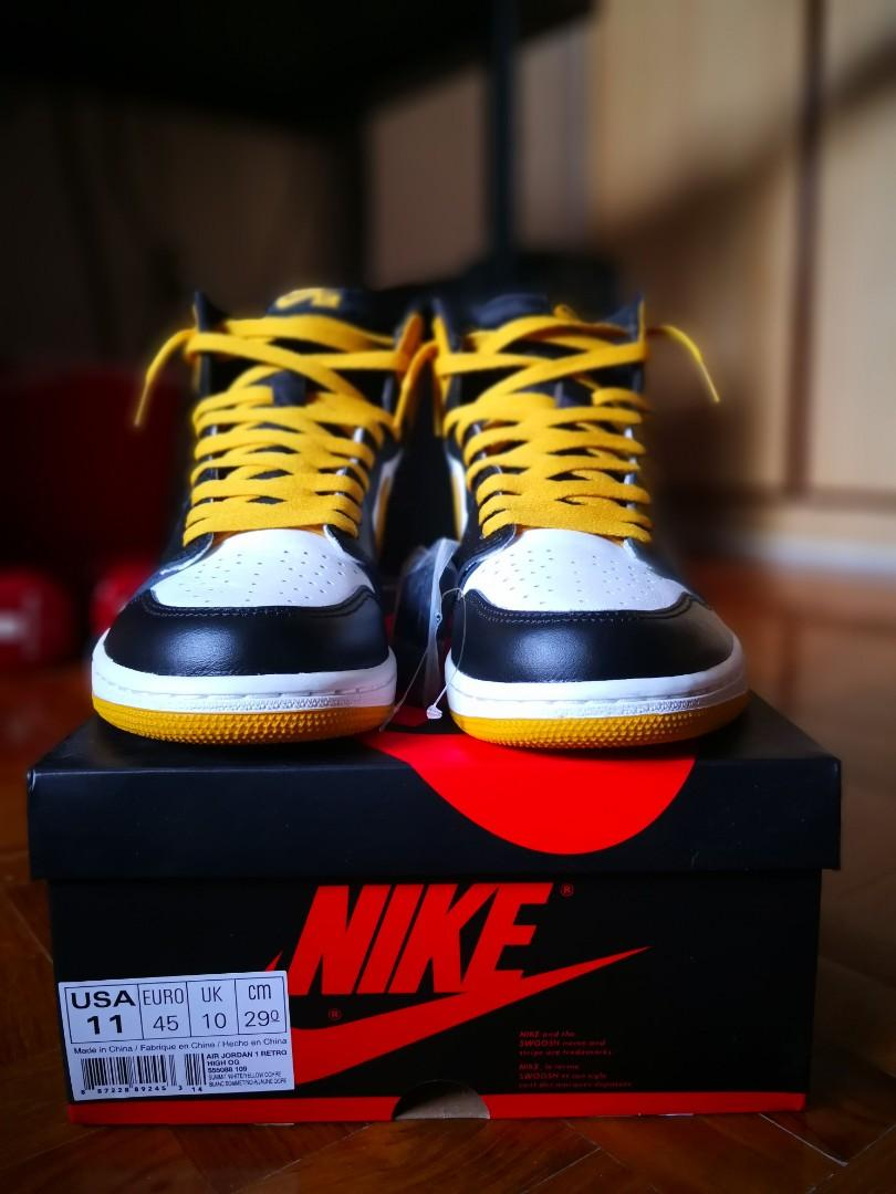 arrives big discount outlet store sale Nike Air Jordan 1 Yellow Ochre, Men's Fashion, Footwear ...