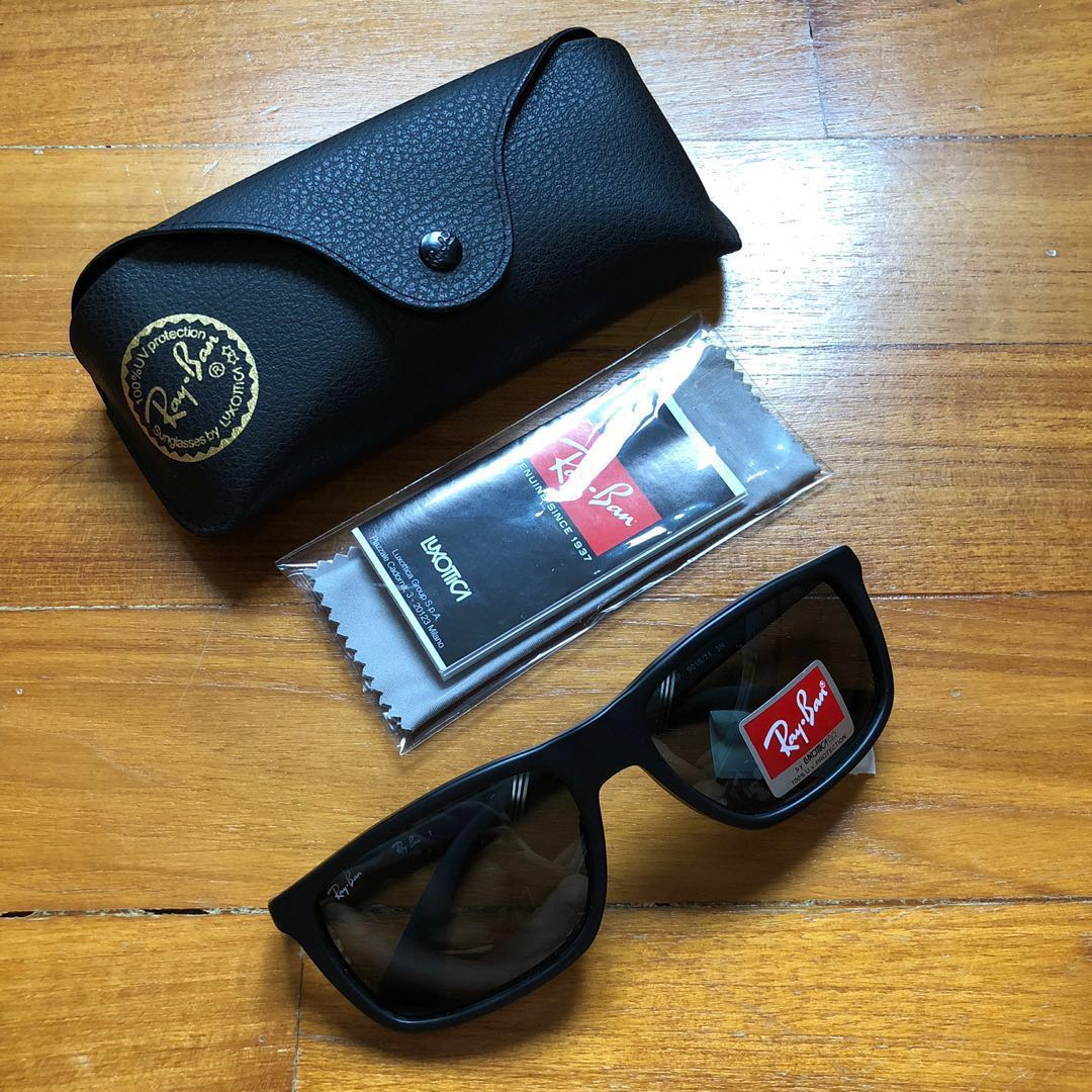 4d717dbad Ray-ban Rectangular Sunglasses, Luxury, Accessories, Others on Carousell