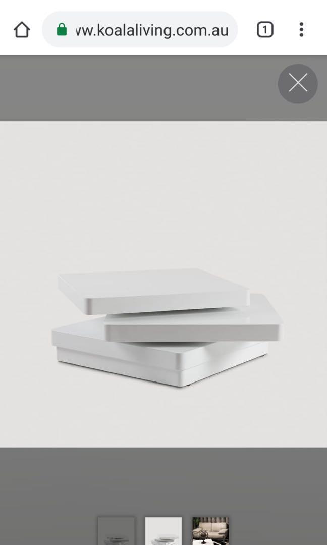 Rotara coffee table white
