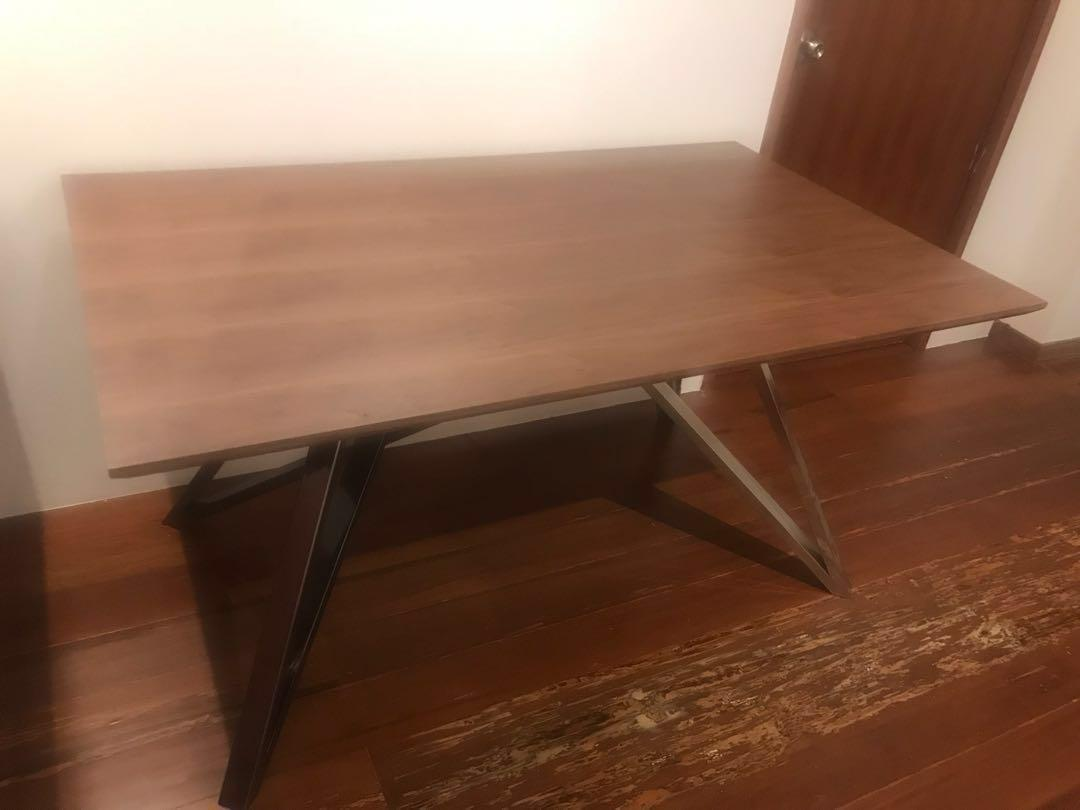 Solid walnut wood table ( price reduced to clear)