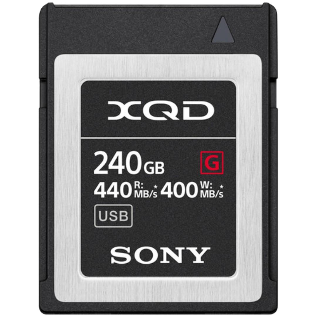 Sony 240GB G Series XQD Memory Card  (to REPLACE  XQD 256GB )-w/ 5 years warranty and File Rescue Service- 240 GB