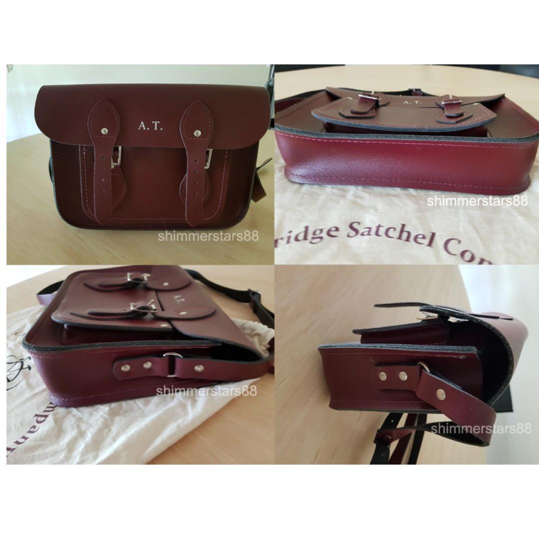 "The Cambridge Satchel Company 11"" Oxblood Leather Satchel RRP£110 (AU $198)"