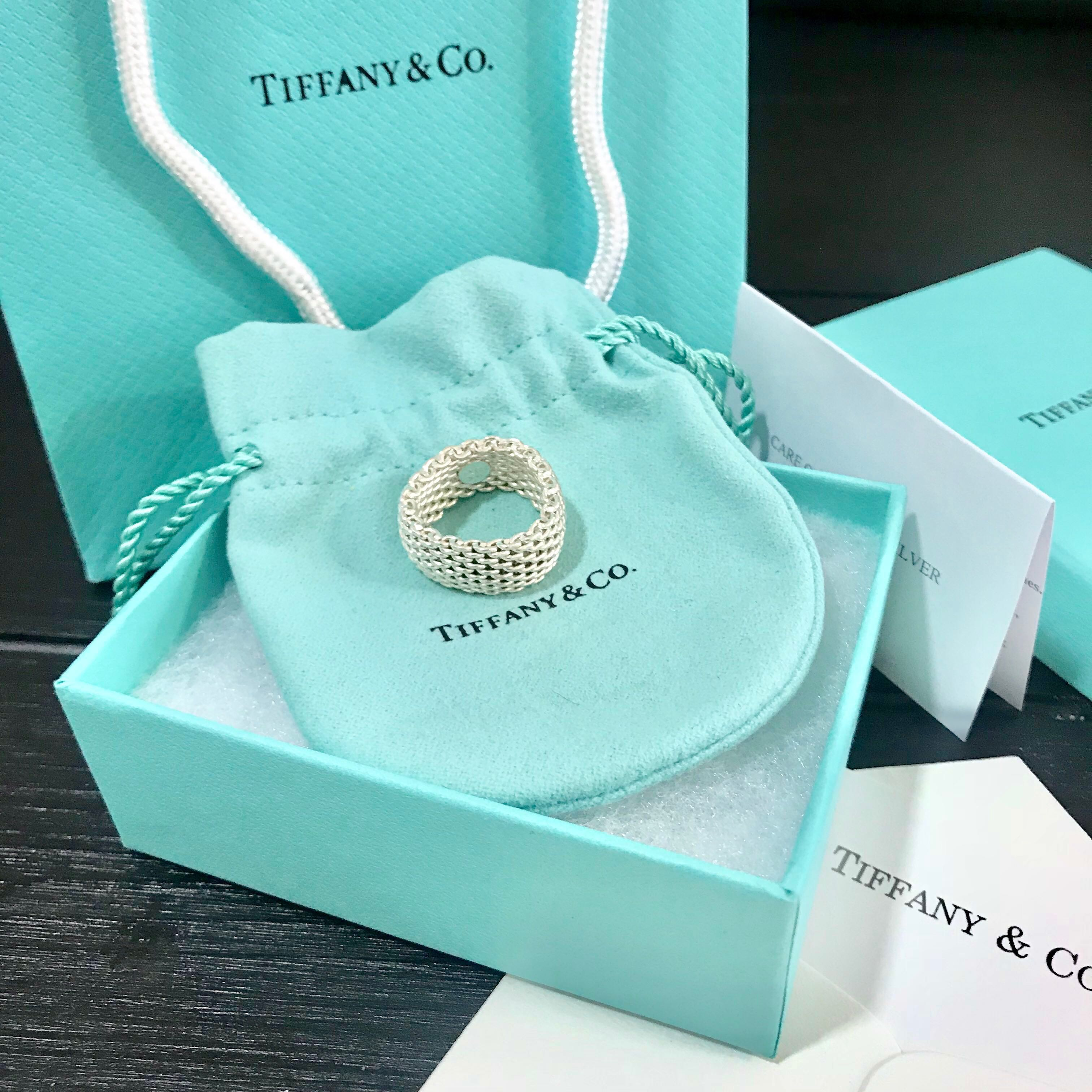 7fdc31a08411a Tiffany & Co Sterling Silver Somerset Mesh Ring - Size 7