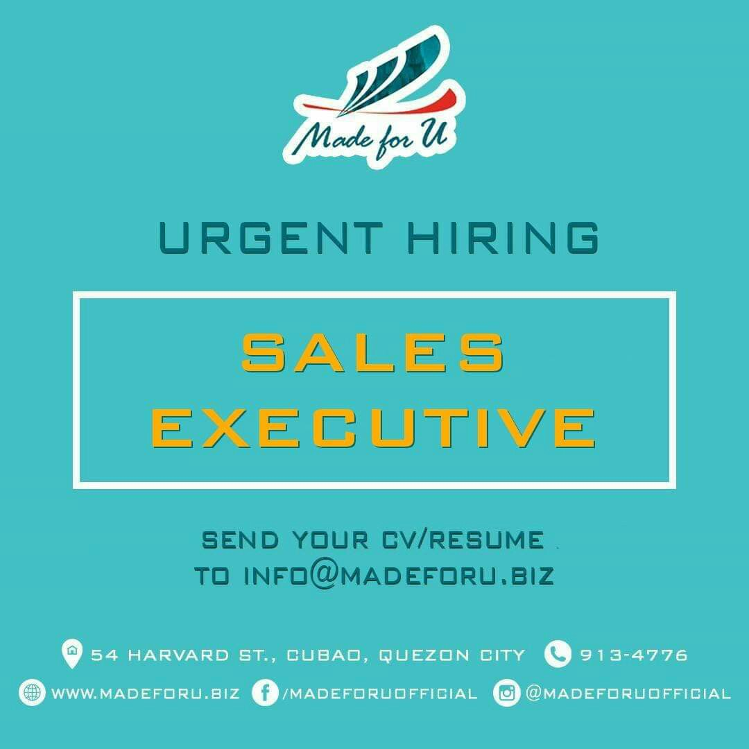 URGENT HIRING: Sales Executive on Carousell