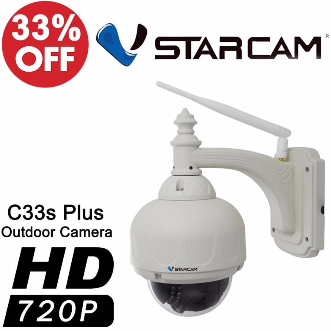 Vstarcam C33 720P Outdoor PTZ Wireless IP Camera