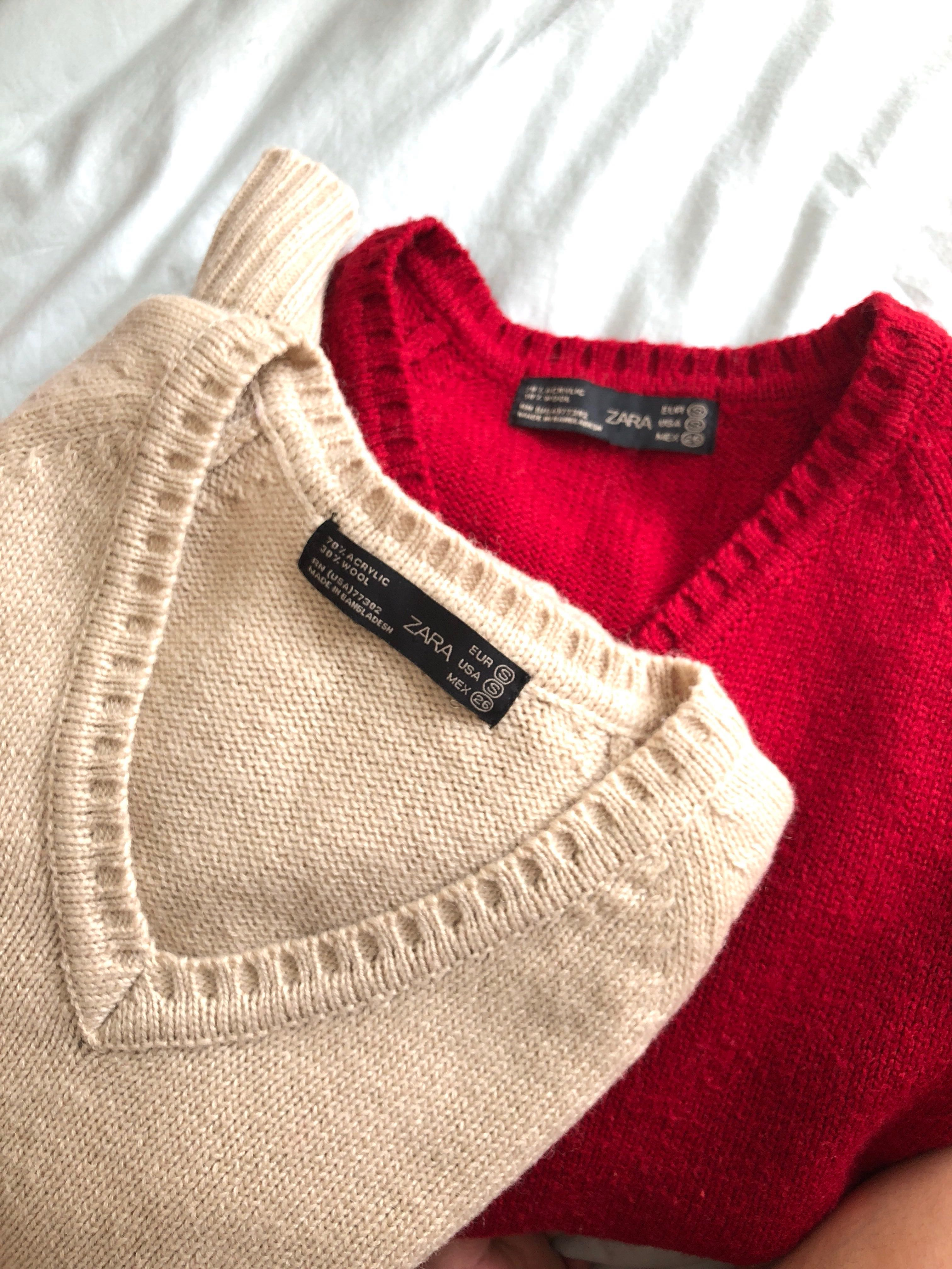 94832342 Zara Knit Sweaters, Women's Fashion, Clothes, Tops on Carousell